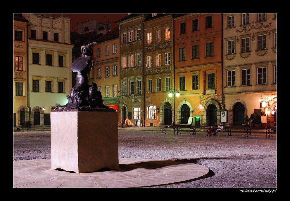 Rynek nocą, Warszawa nocą, Polska | Warsaw by night, Poland