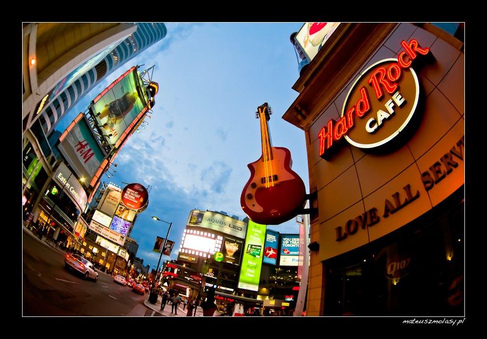 Hard Rock Cafe, Dundas Square, Toronto, Ontario, Canada