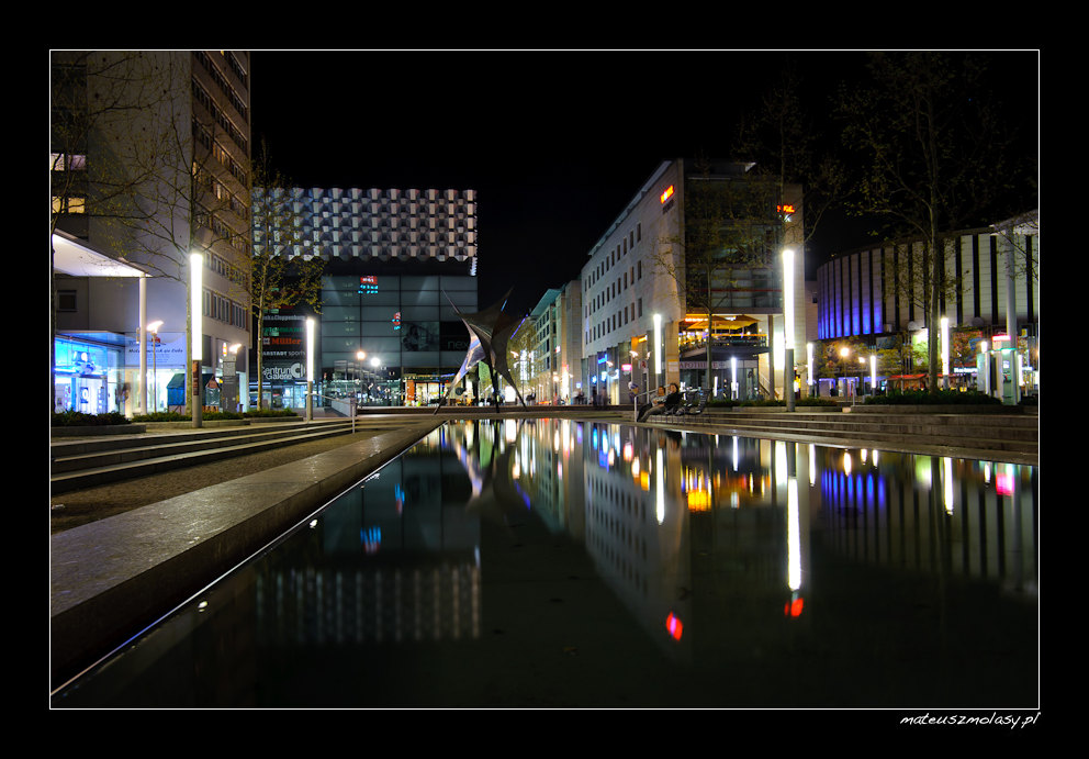 Prager Strasse by Night, Dresden, Germany, Deutschland