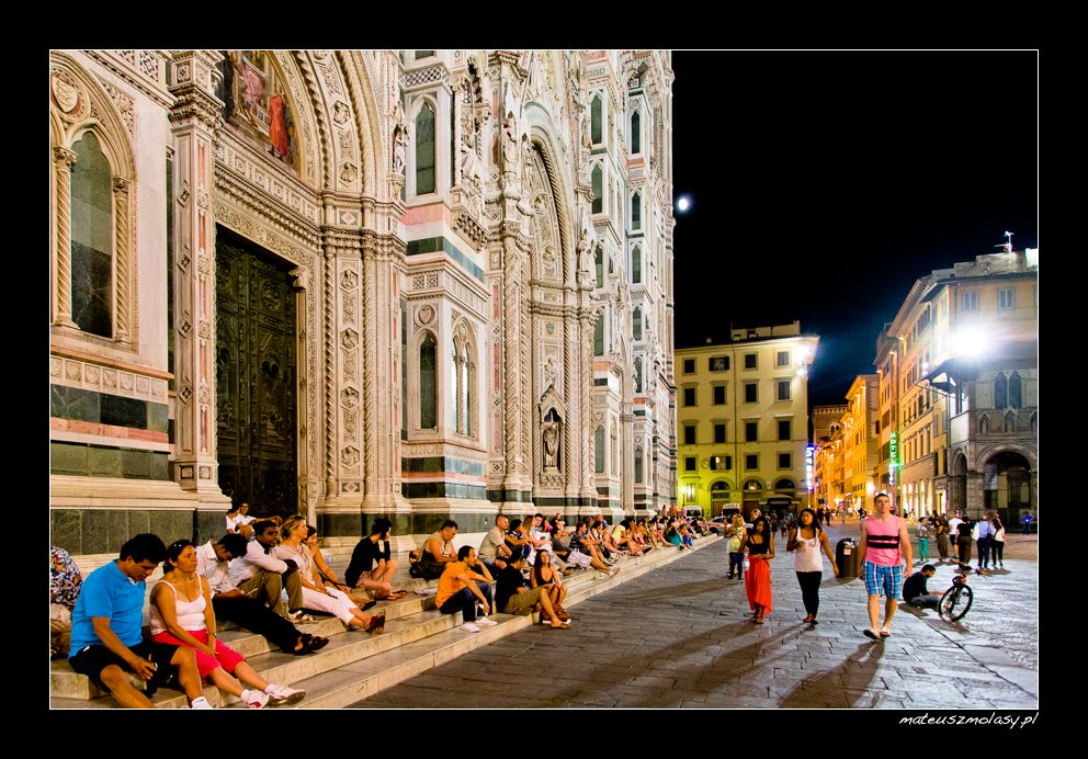The Duomo by night, Cathedral in Florence, Tuscany, Italy