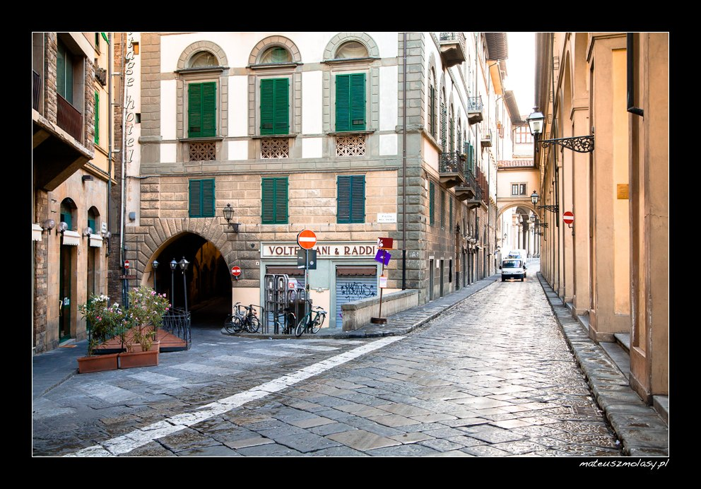 Świt we Florencji, Florencja, Toskania, Włochy