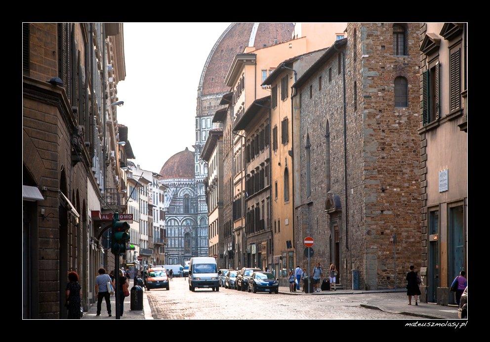 Poranek we Florencji, Florencja, Toskania, Włochy