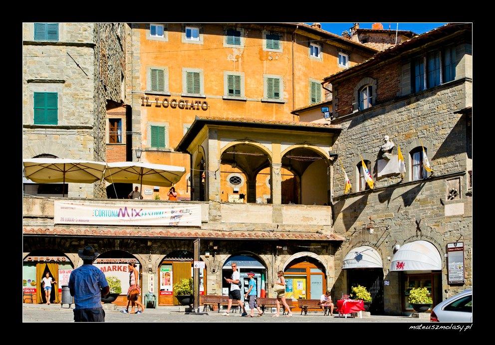 Rynek, Cortona, Toskania, Włochy