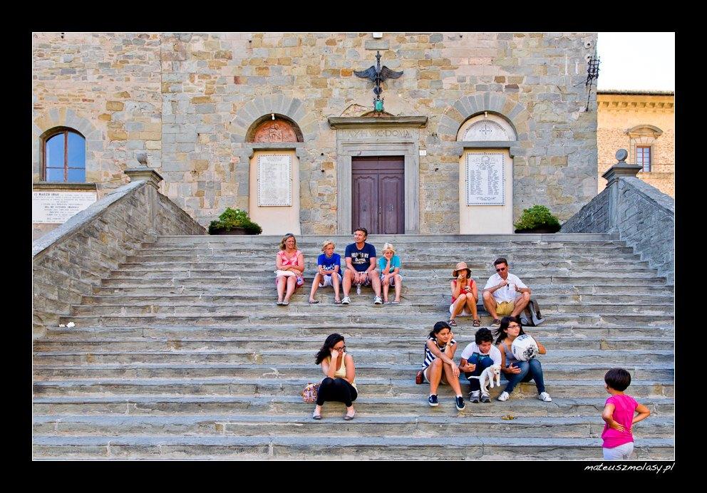 Tourists, Cortona, Tuscany, Italy