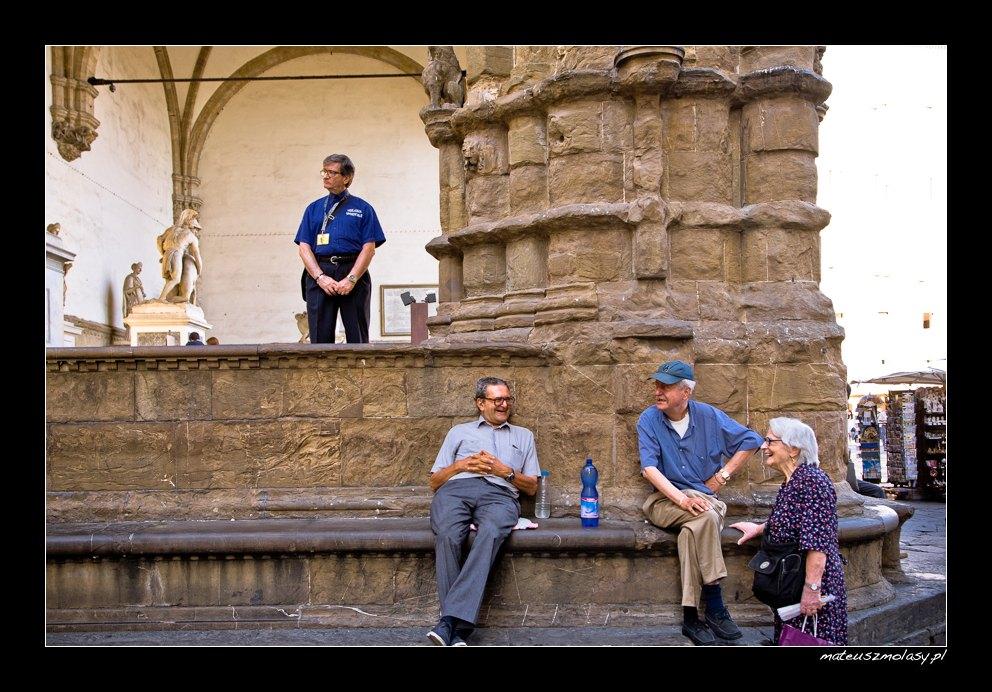 Italians in Florence, Tuscany, Italy