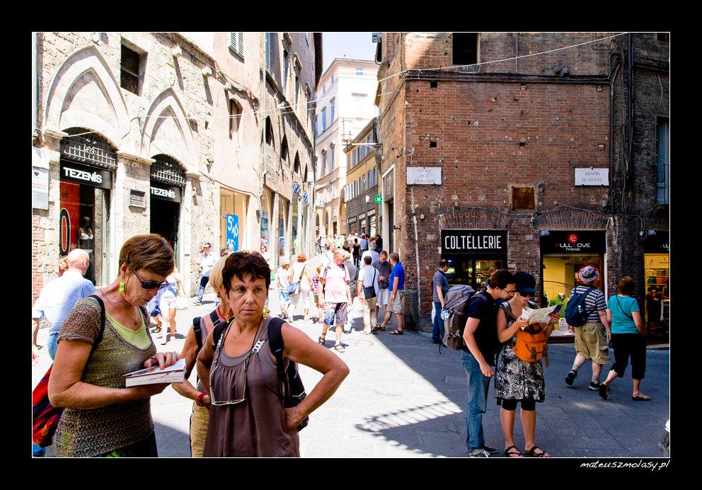 Tourists, Siena, Tuscany, Italy