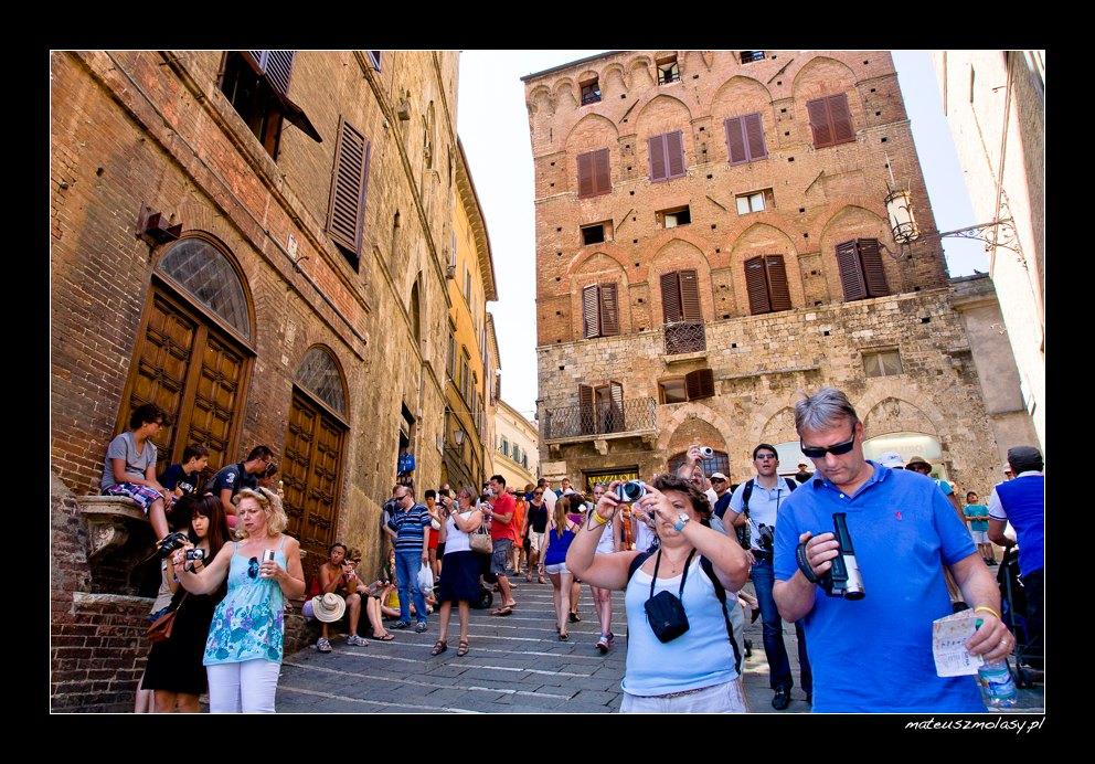 Wycieczka, Siena, Toskania, Włochy