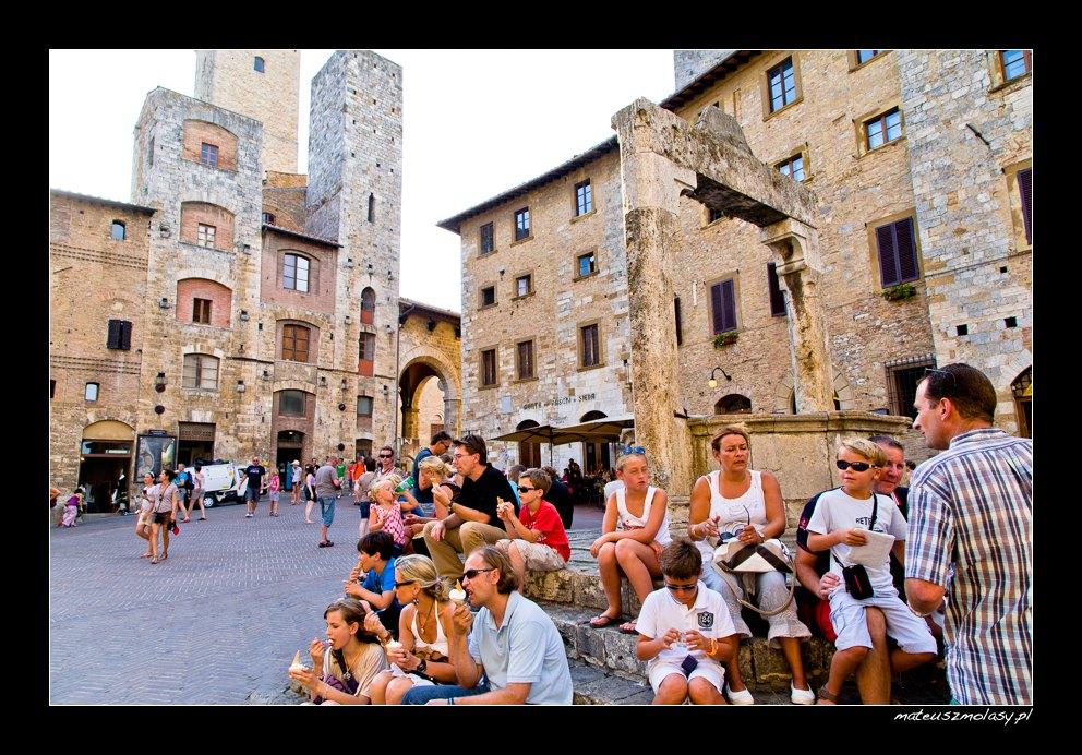 Eating Ice Cream, Najlepsze lody na świecie, San Gimignano, Tuscany, Italy