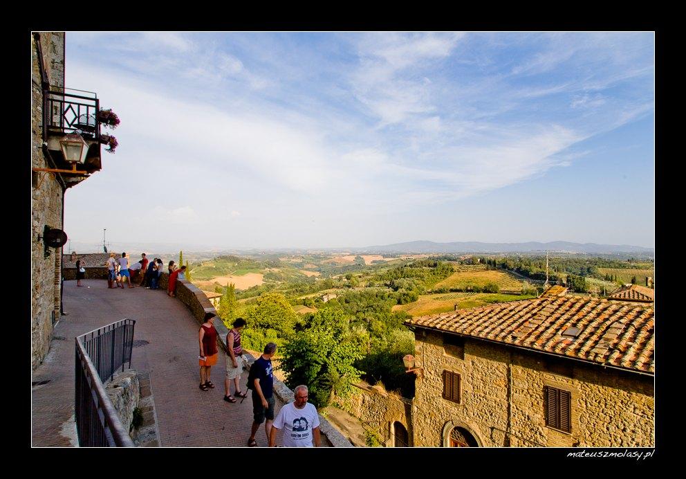 View from the city wall, San Gimignano, Tuscany, Italy