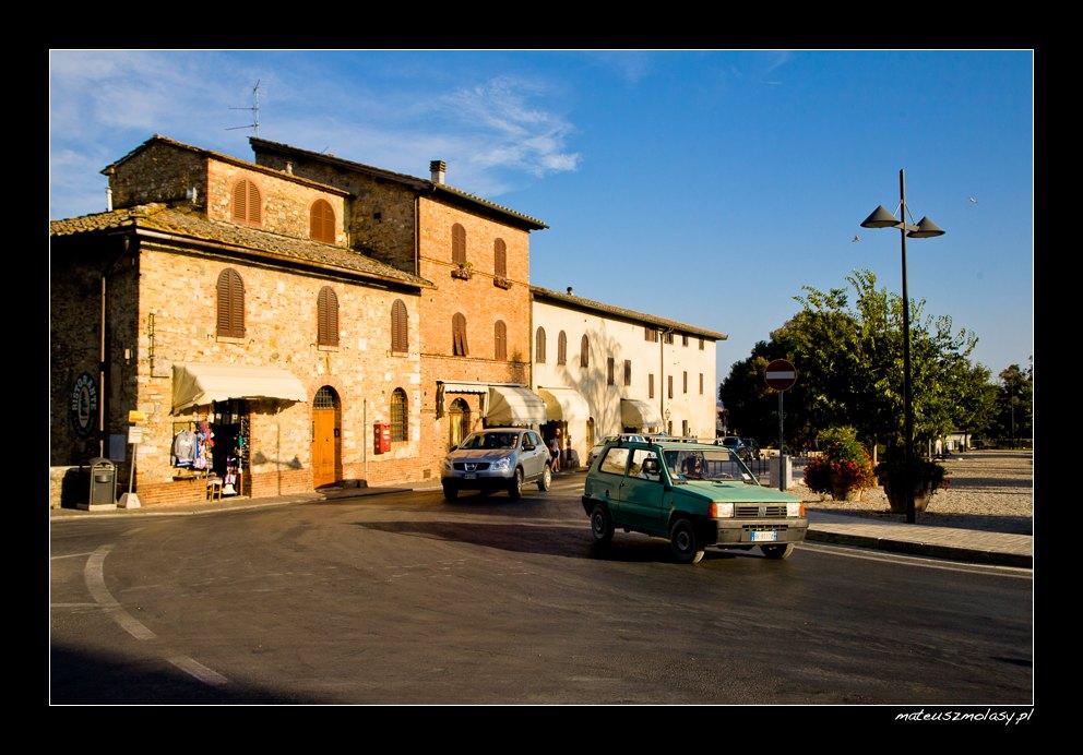 Old Fiat, San Gimignano, Tuscany, Italy