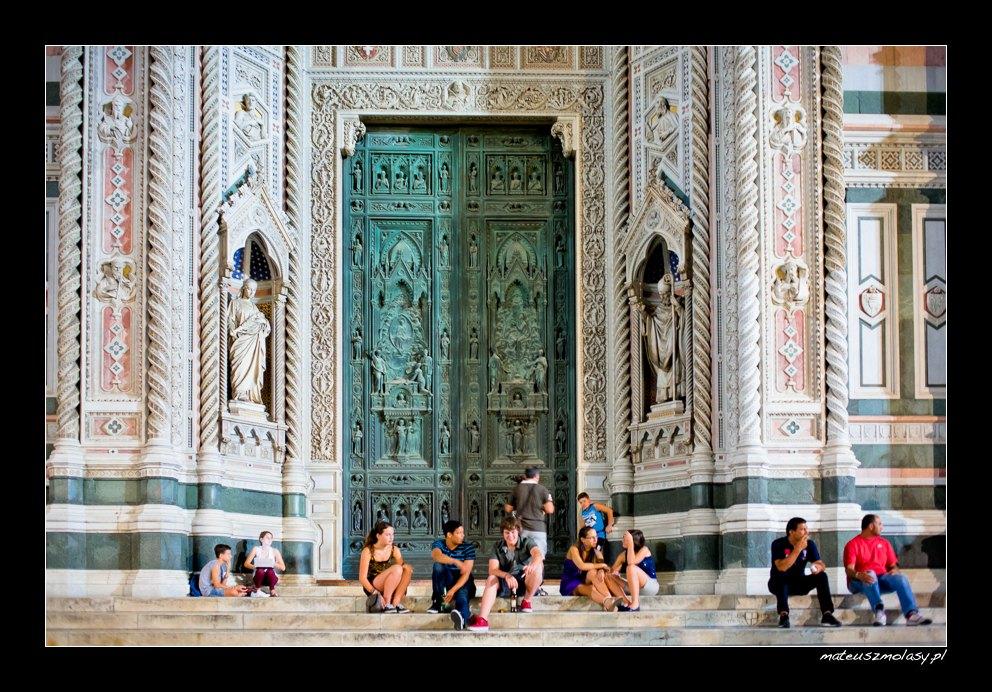 The Duomo nocą, Katedra we Florencji nocą, Florencja, Toskania, Włochy