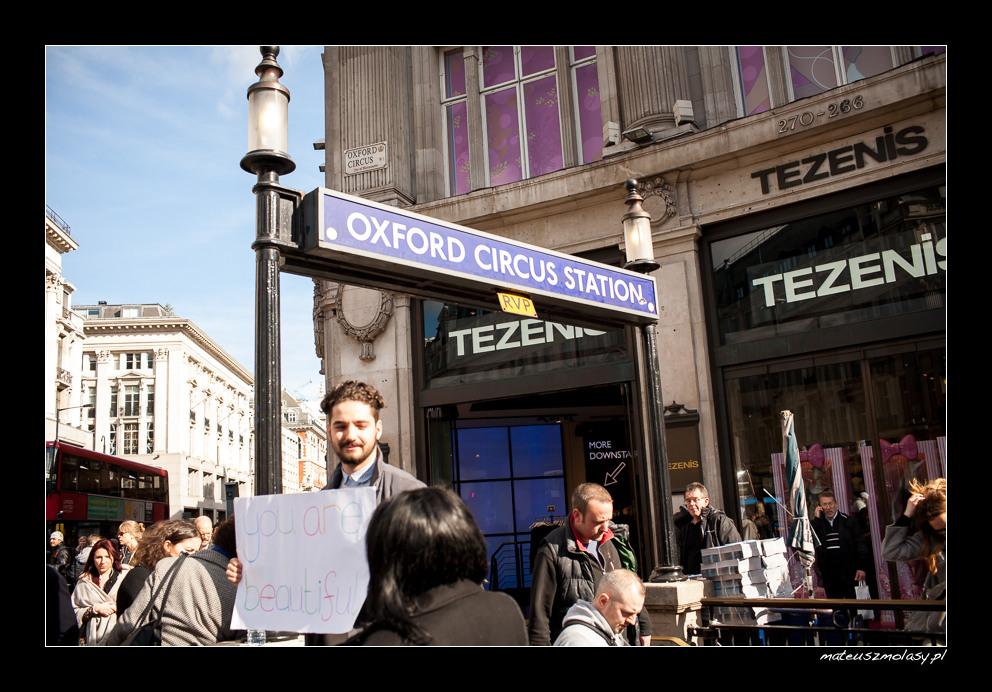London, Oxford Circus, Station, Street art