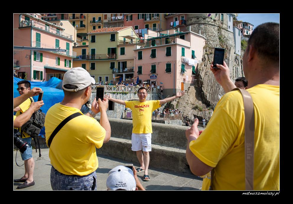 Asians, Manarola, Cinque Terre, Italy